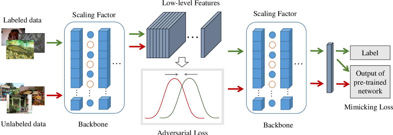 Figure 1 for Bringing Giant Neural Networks Down to Earth with Unlabeled Data