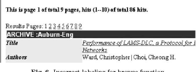 Fig. 6. Incorrect labeling for browse function
