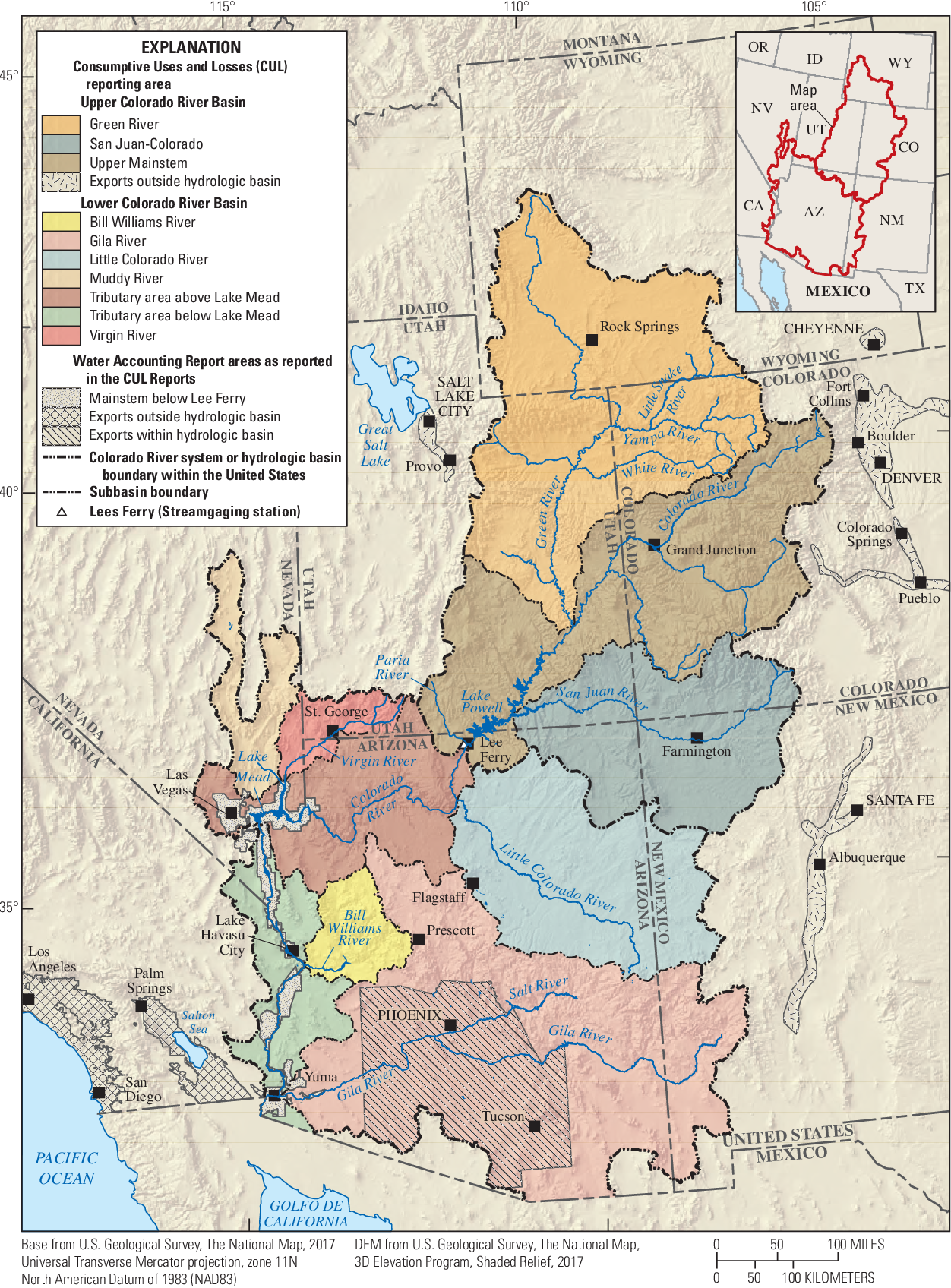 Figure 1 from Comparison of U.S. Geological Survey and Bureau of ...