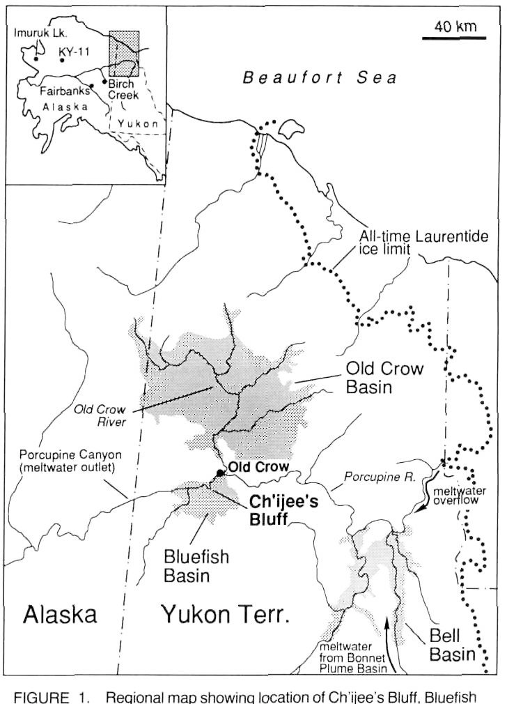 Bluff Alaska Map.Figure 1 From Quaternaire The Last Koy Yukon Interglaciation In