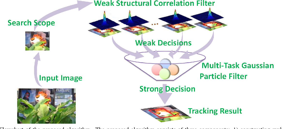 Figure 1 for A Structural Correlation Filter Combined with A Multi-task Gaussian Particle Filter for Visual Tracking