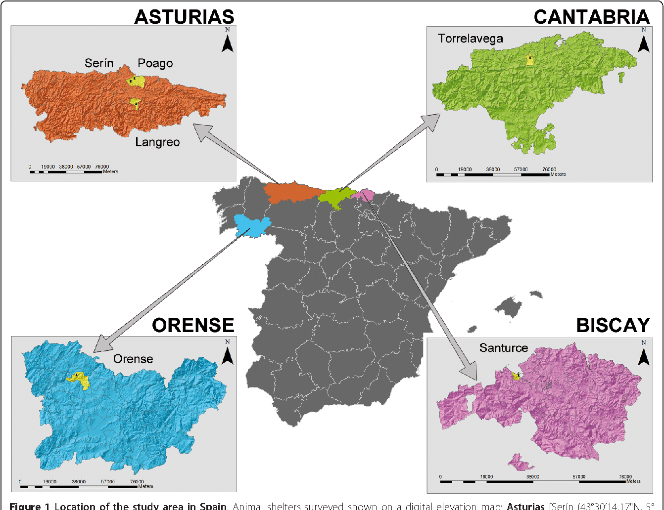 Elevation Map Of Spain.Figure 1 From Current Situation Of Leishmania Infantum Infection In
