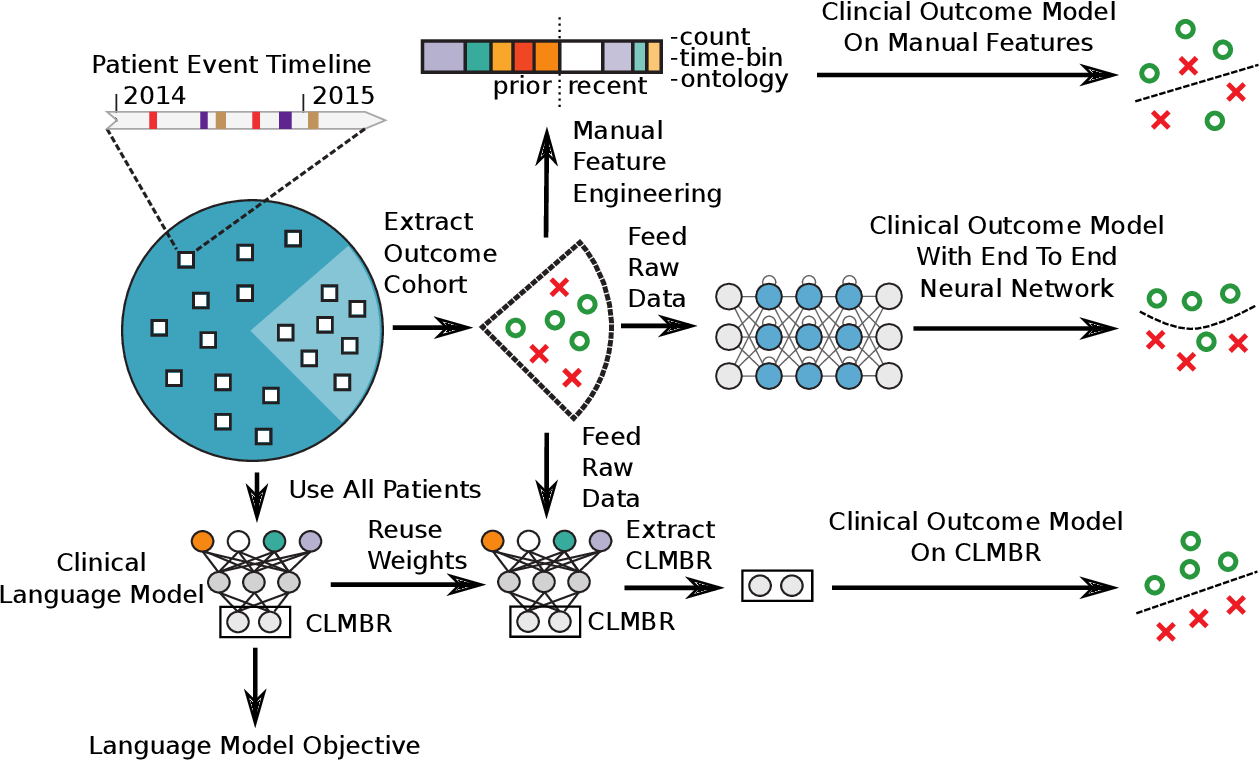 Figure 1 for Language Models Are An Effective Patient Representation Learning Technique For Electronic Health Record Data