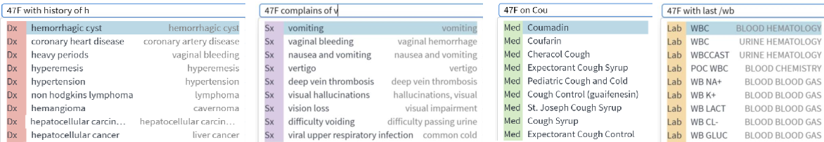 Figure 4 for Fast, Structured Clinical Documentation via Contextual Autocomplete