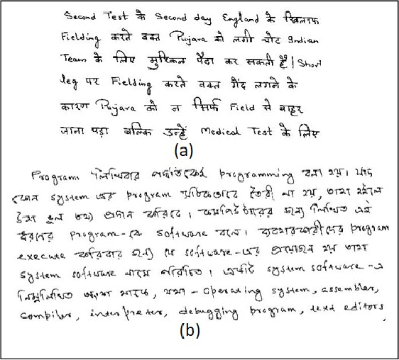 Figure 1 for Indic Handwritten Script Identification using Offline-Online Multimodal Deep Network