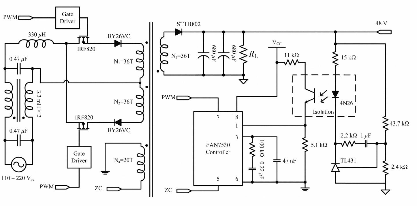 A Single Stage Bridgeless Power Factor Correction Rectifier Based On Circuit Diagram Ks2 Flyback Topology Semantic Scholar