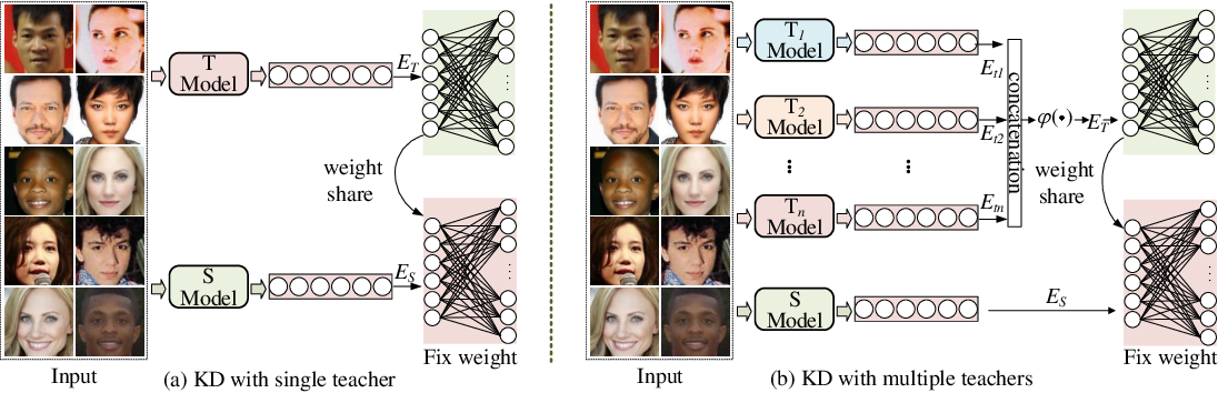 Figure 3 for ProxylessKD: Direct Knowledge Distillation with Inherited Classifier for Face Recognition