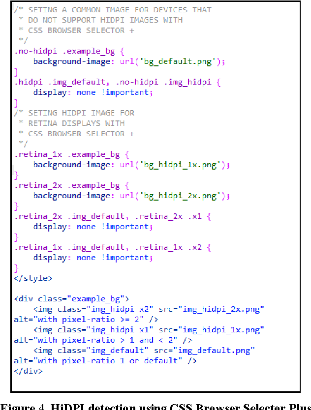 Figure 4 from CSS browser selector plus: a JavaScript library to