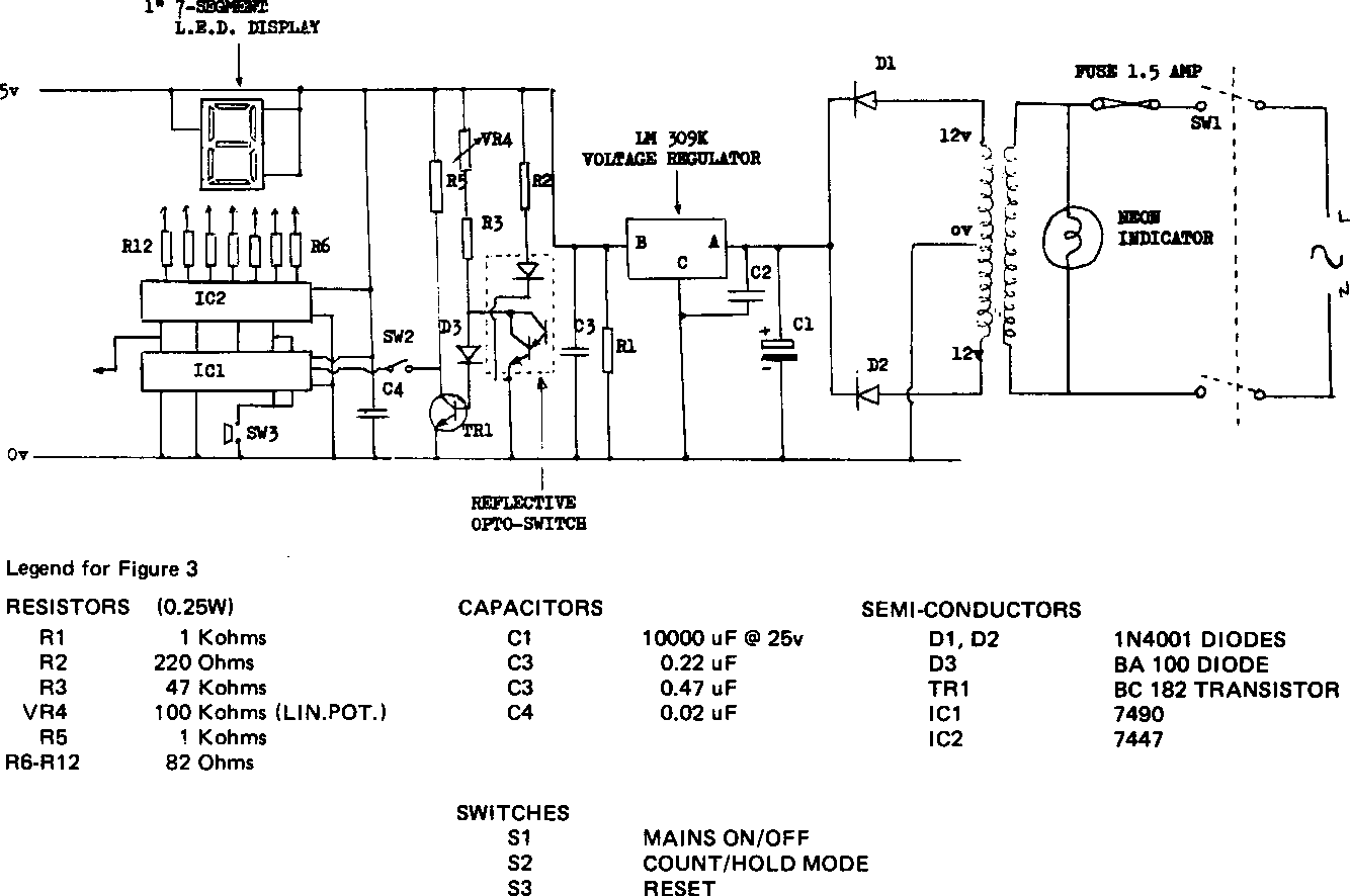 Figure 3 From A Digital Display Revolution Counter Semantic Scholar Circuit Design Diagram For