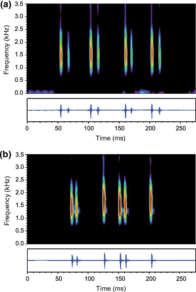 Figure 2 from Acoustic signalling in female fish: factors