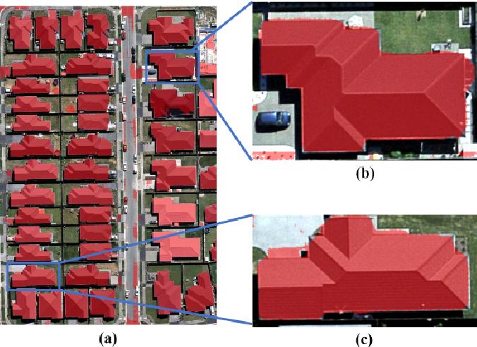 Figure 1 for Instance segmentation of buildings using keypoints