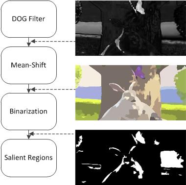 Fig. 2. Algorithm for salient regions detection