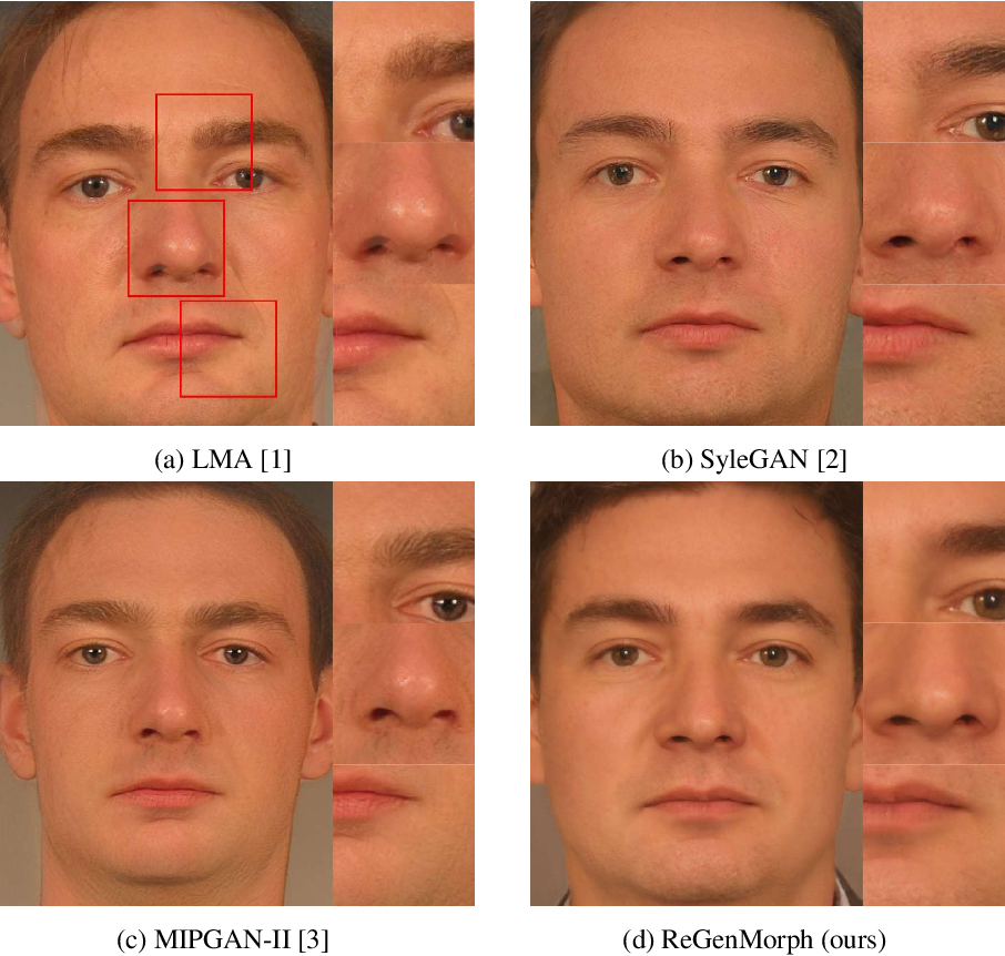 Figure 2 for ReGenMorph: Visibly Realistic GAN Generated Face Morphing Attacks by Attack Re-generation