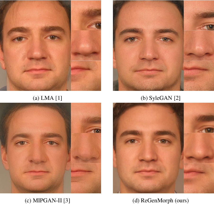 Figure 4 for ReGenMorph: Visibly Realistic GAN Generated Face Morphing Attacks by Attack Re-generation