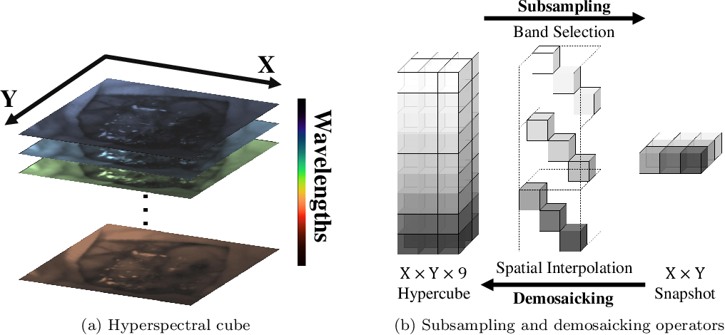 Figure 1 for Deep Learning Approach for Hyperspectral Image Demosaicking, Spectral Correction and High-resolution RGB Reconstruction