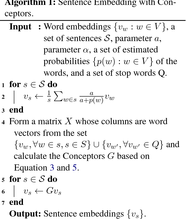 Figure 1 for Correcting the Common Discourse Bias in Linear Representation of Sentences using Conceptors