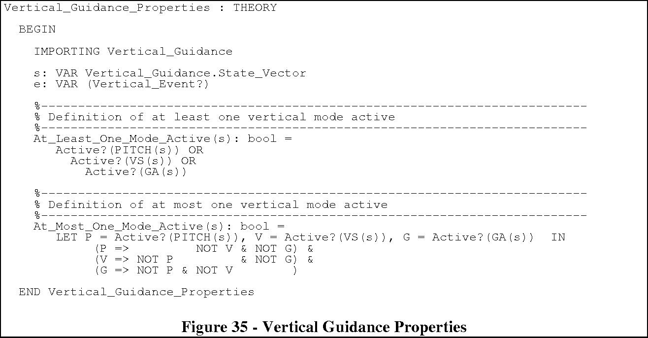 Figure 35 - Vertical Guidance Properties