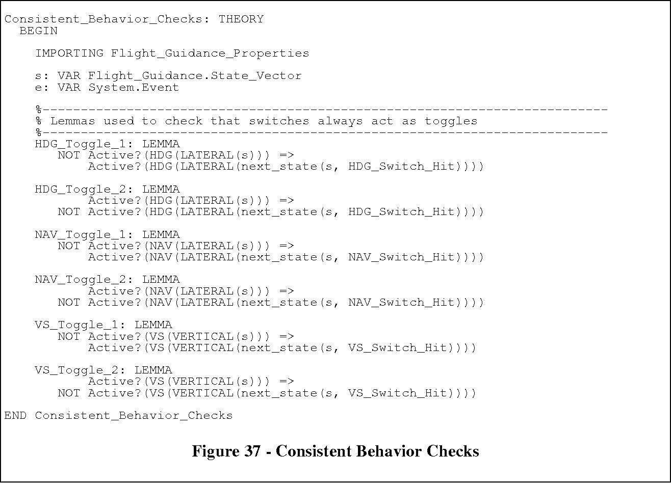 Figure 37 - Consistent Behavior Checks