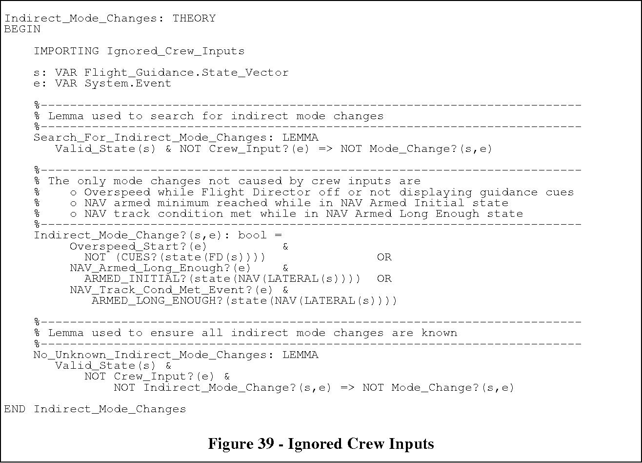 Figure 39 - Ignored Crew Inputs