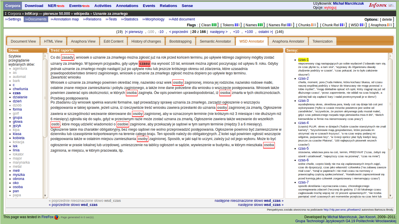 Figure 7 from Inforex - a web-based tool for text corpus