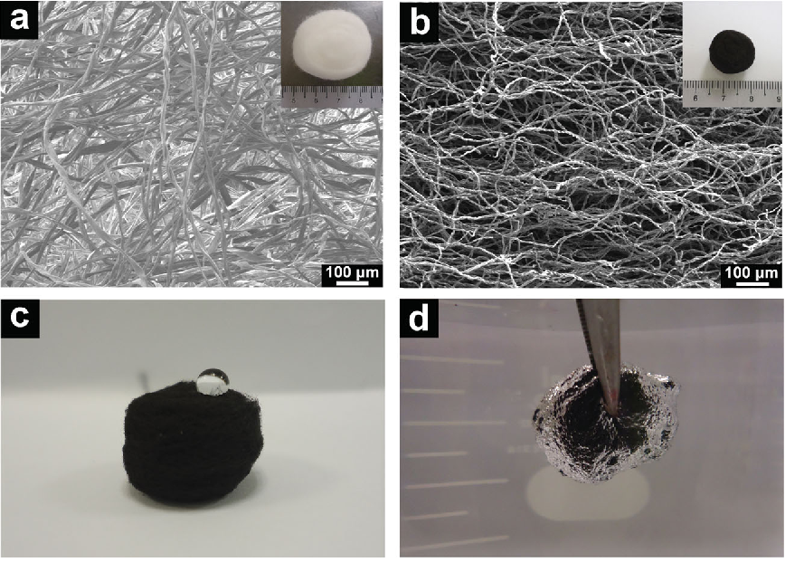 Figure 1 from Carbon fiber aerogel made from raw cotton: a novel