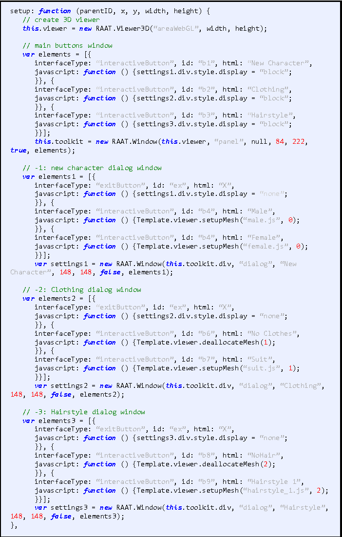 Figure 3 from RAAT – The Reverie Avatar Authoring Tool A JavaScript