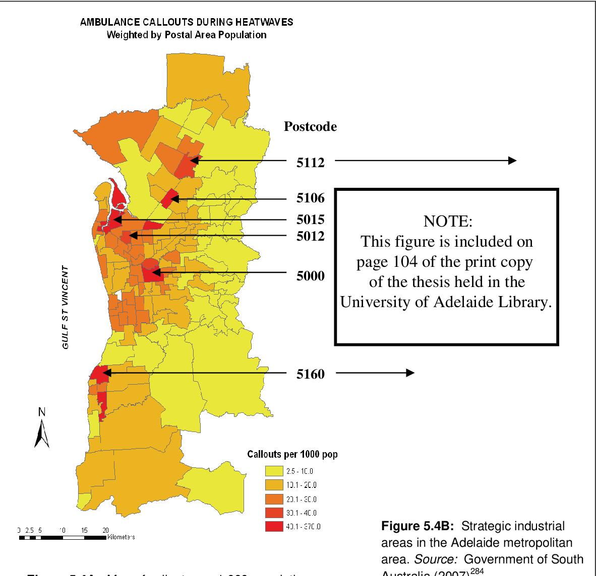Risk assessment for environmental health in Adelaide based