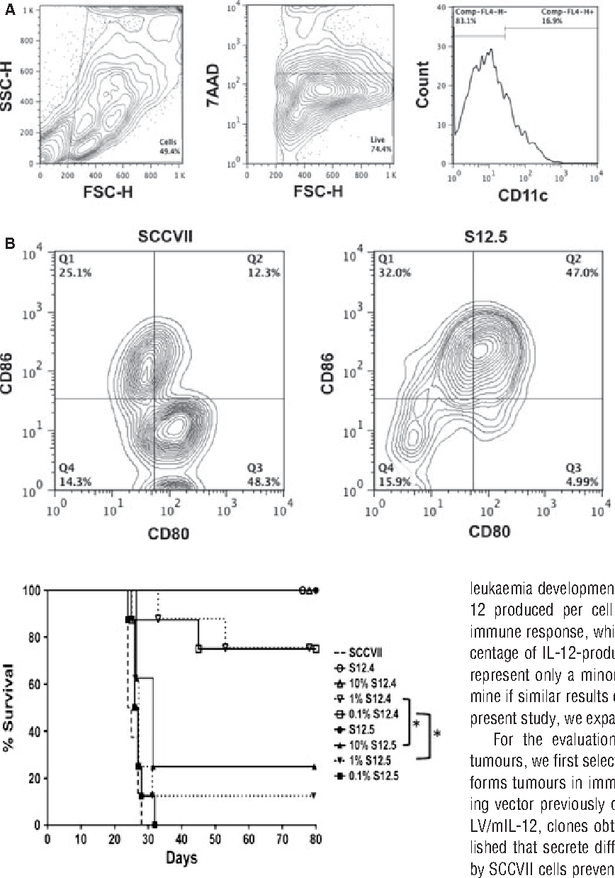localized interleukin 12 delivery for immunotherapy of solid tumours