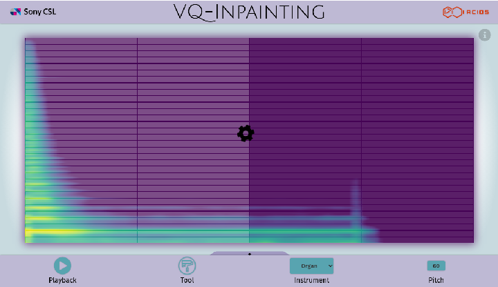 Figure 4 for Spectrogram Inpainting for Interactive Generation of Instrument Sounds