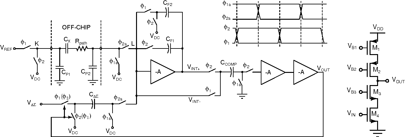 Fig. 4. Single-ended cascode amplifier circuit A.
