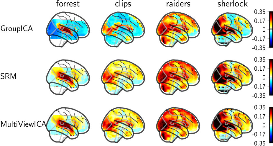 Figure 4 for Modeling Shared Responses in Neuroimaging Studies through MultiView ICA