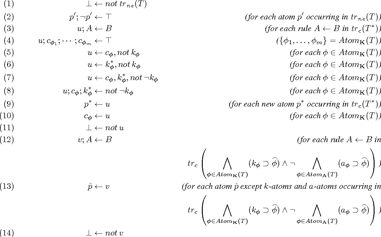 Figure 1 for Implementing Default and Autoepistemic Logics via the Logic of GK