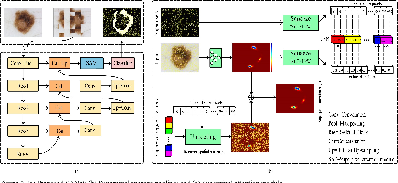 Figure 3 for SANet:Superpixel Attention Network for Skin Lesion Attributes Detection