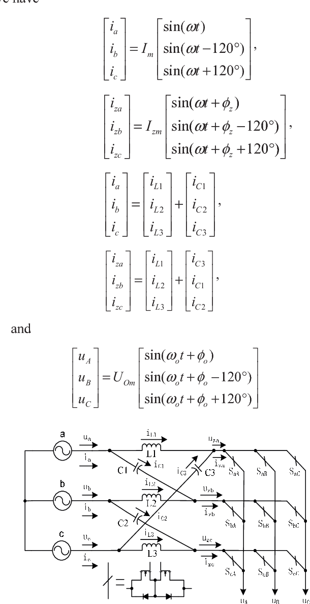 Current Fed Z Source Matrix Converter