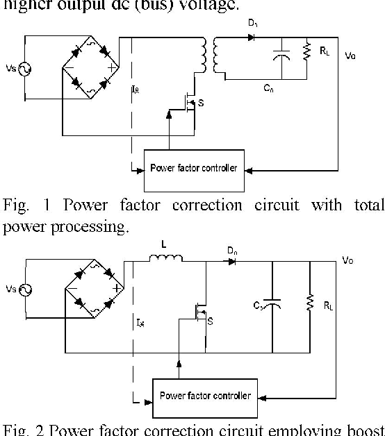 Single Switch Single Phase Boost Power Factor Correction Circuit