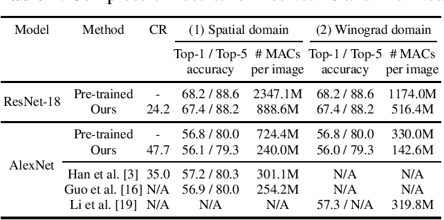 Figure 4 for Jointly Sparse Convolutional Neural Networks in Dual Spatial-Winograd Domains