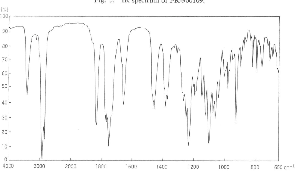 Fig. 5. IR spectrum of FR-900109.