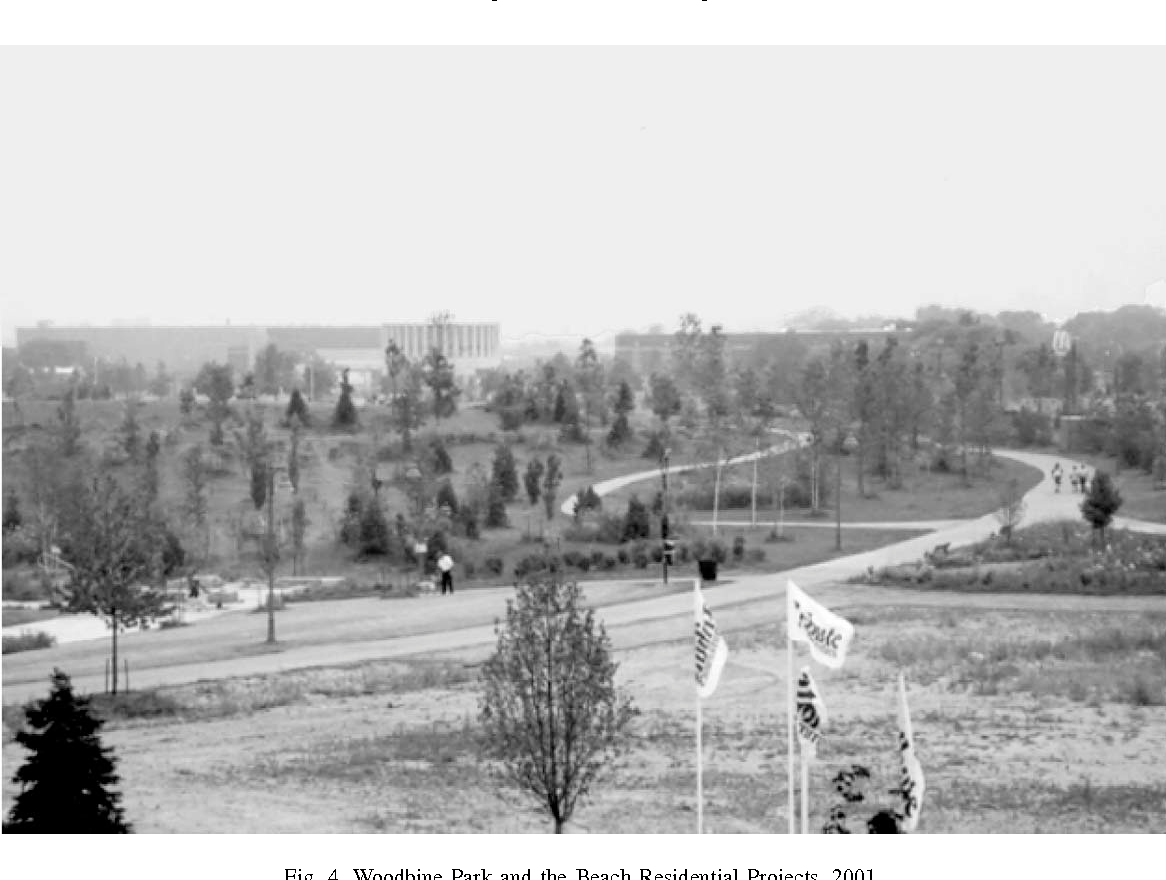 Fig. 4. Woodbine Park and the Beach Residential Projects, 2001.