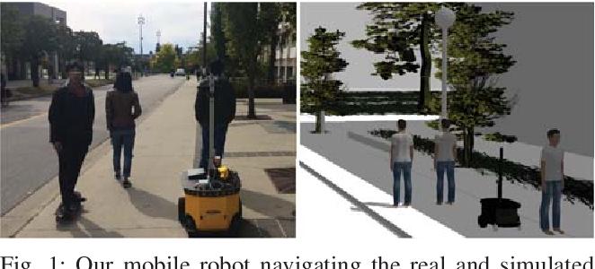 Figure 1 for Group Surfing: A Pedestrian-Based Approach to Sidewalk Robot Navigation