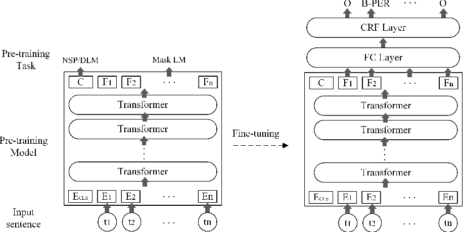 Figure 1 for Application of Pre-training Models in Named Entity Recognition
