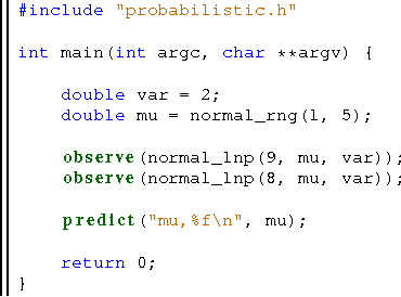 Figure 1 for A Compilation Target for Probabilistic Programming Languages