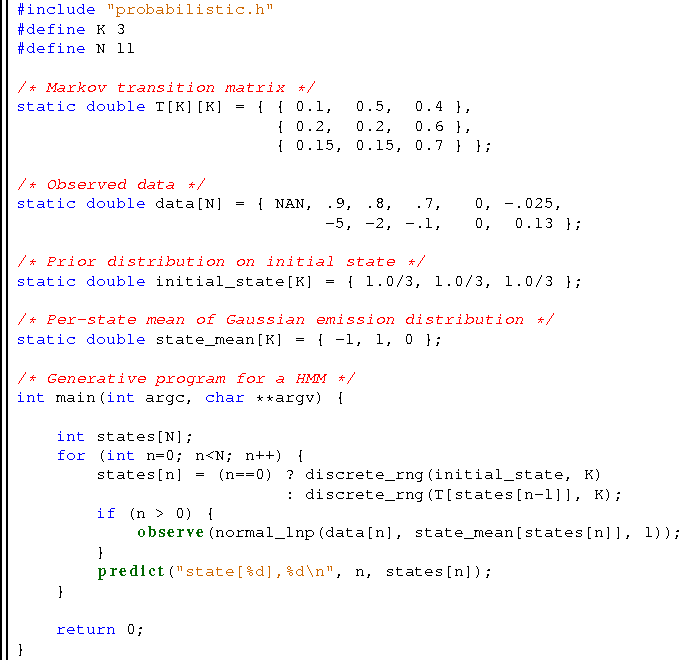 Figure 2 for A Compilation Target for Probabilistic Programming Languages
