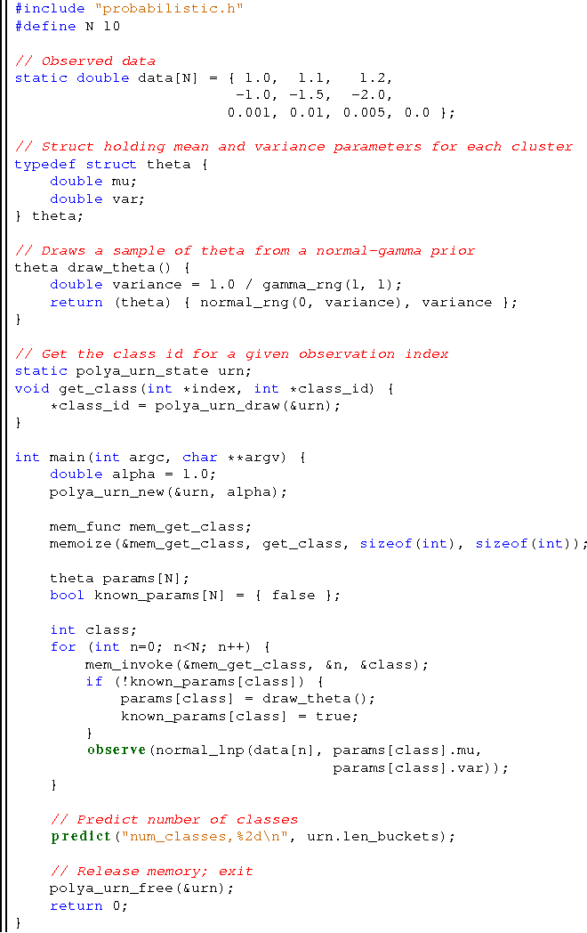 Figure 3 for A Compilation Target for Probabilistic Programming Languages