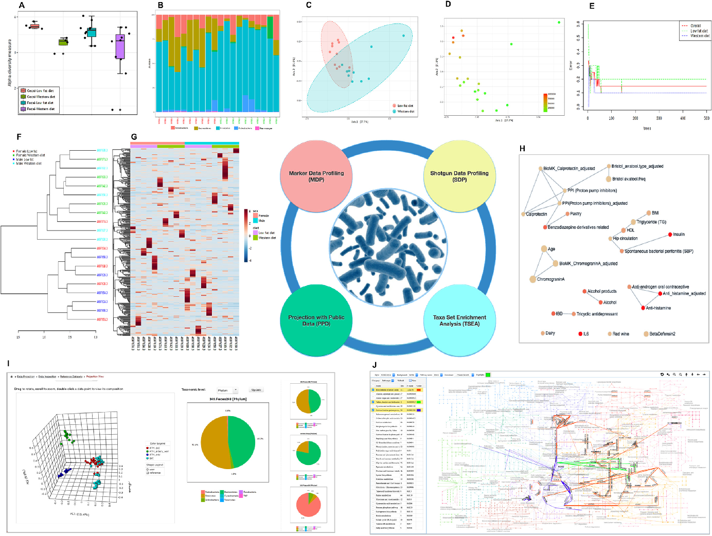 Figure 2 from MicrobiomeAnalyst: a web-based tool for comprehensive