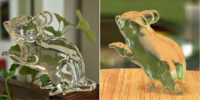 Figure 1 for Full 3D Reconstruction of Transparent Objects