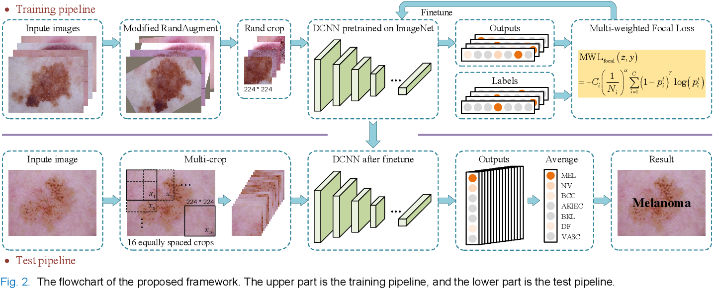 Figure 2 for Single Model Deep Learning on Imbalanced Small Datasets for Skin Lesion Classification