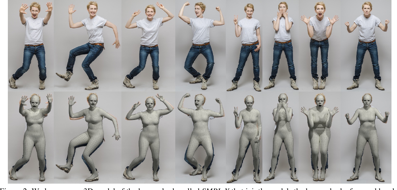 Figure 3 for Expressive Body Capture: 3D Hands, Face, and Body from a Single Image
