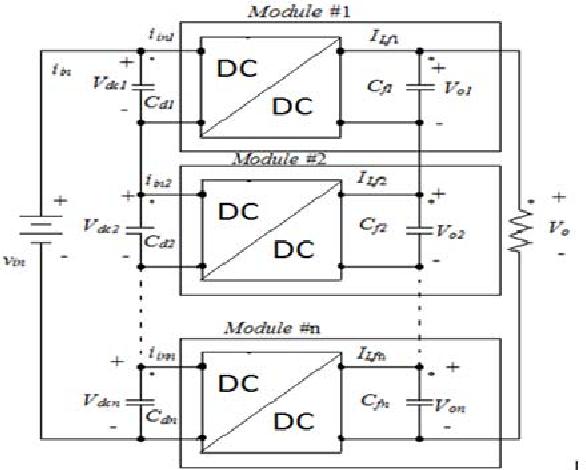 Input-series output-parallel full-bridge DC-DC converter for high