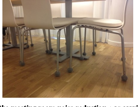 Fig. 2. In the meeting room noise reduction was carried out by