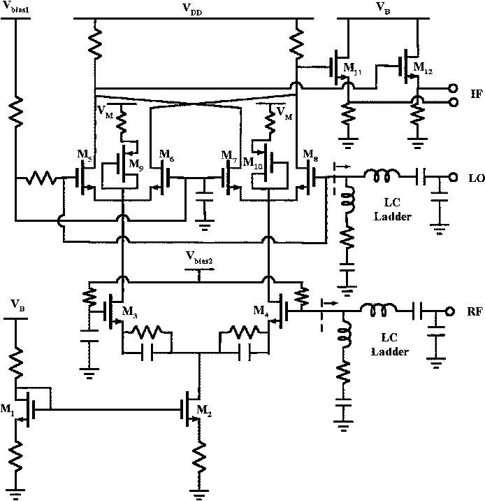 Figure 2 from a 03 25 ghz ultra wideband mixer using commercial circuit schematic of the cmos wideband mixer ccuart Choice Image